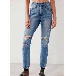 Levi's 501 Skinny Destructed Jeans in Old Hangouts